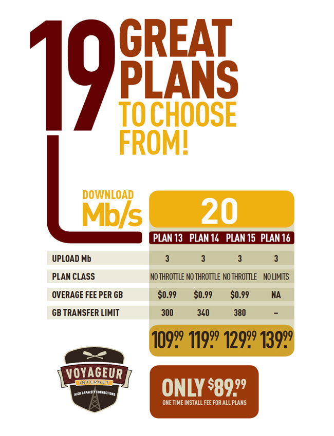19 Great Plans: 20 Mb/s